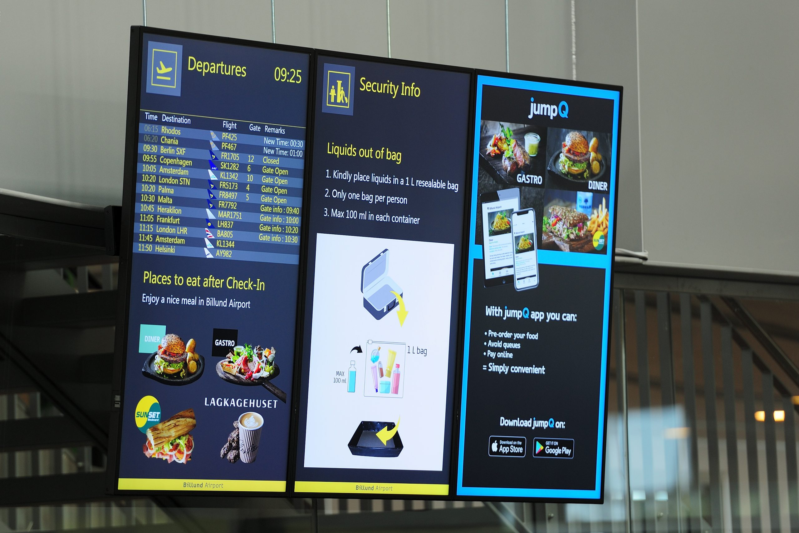 digital signage airport experience